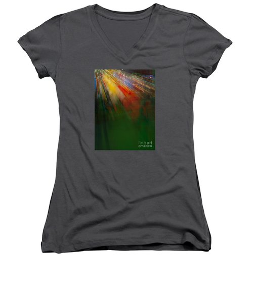 Christmas Abstract Women's V-Neck (Athletic Fit)