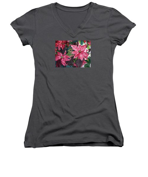 Christmas Beauty Women's V-Neck