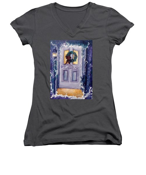 Christmas Eve Women's V-Neck (Athletic Fit)
