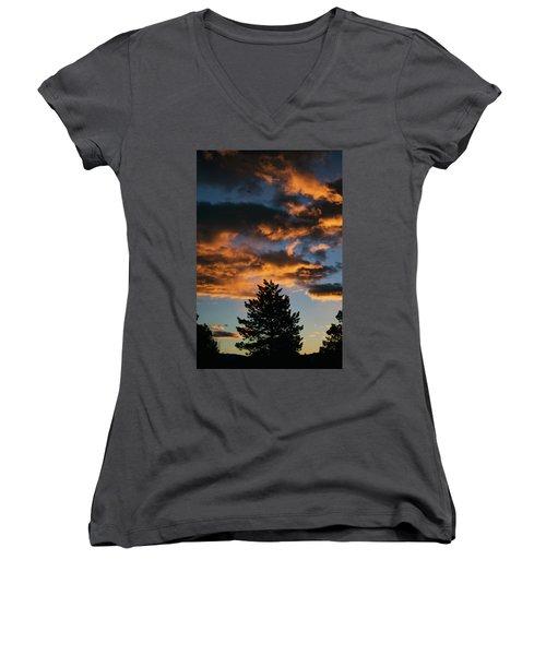 Christmas Eve Sunrise 2016 Women's V-Neck T-Shirt (Junior Cut) by Jason Coward