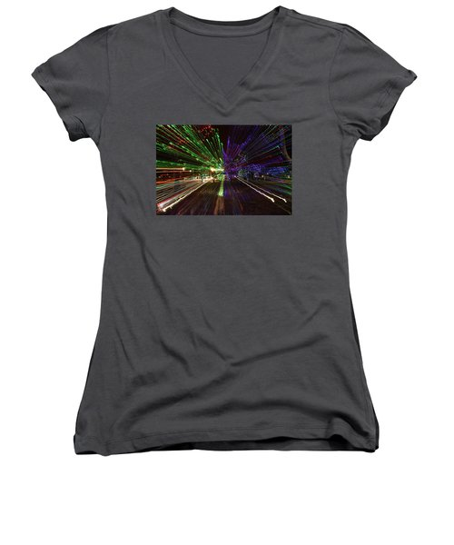 Christmas Exploding Women's V-Neck (Athletic Fit)