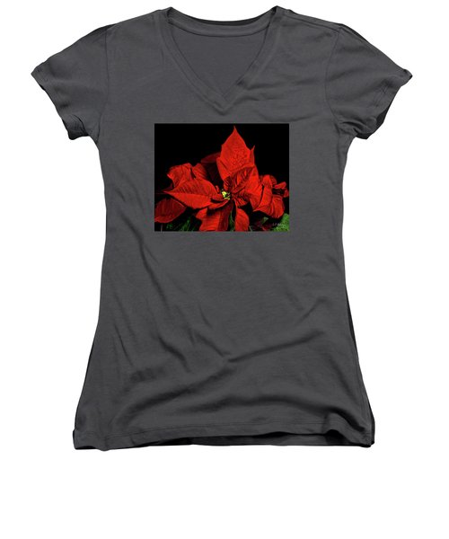 Christmas Fire Women's V-Neck