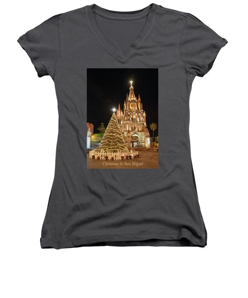 Christmas In San Miguel Women's V-Neck