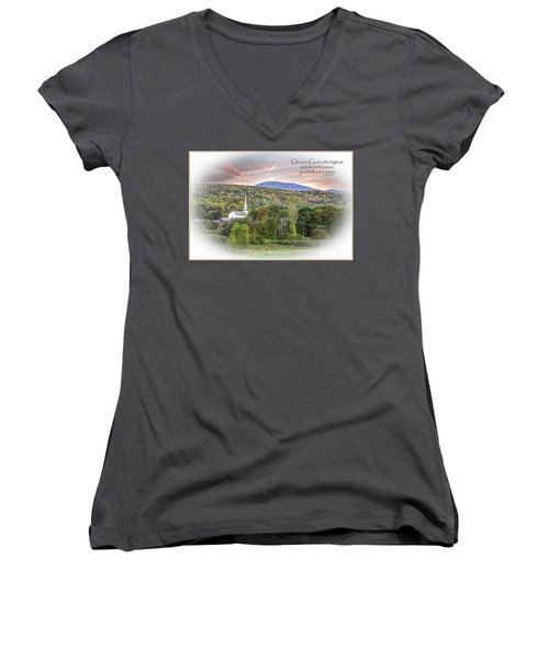Christmas In Vermont Women's V-Neck (Athletic Fit)