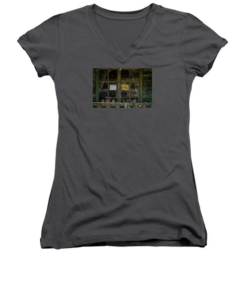 Christmas Lights And Reflections Women's V-Neck (Athletic Fit)