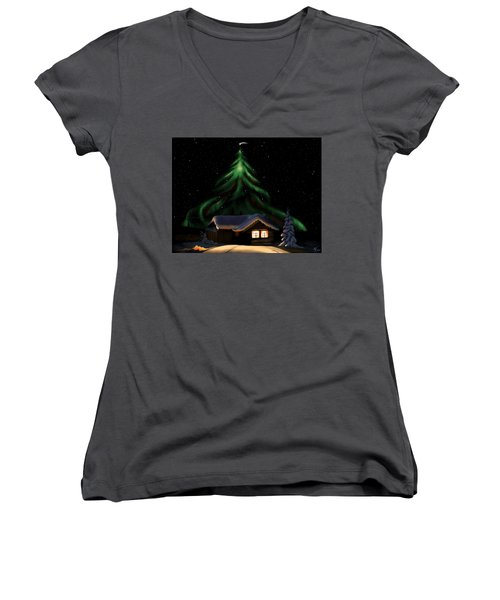 Christmas Lights Women's V-Neck T-Shirt