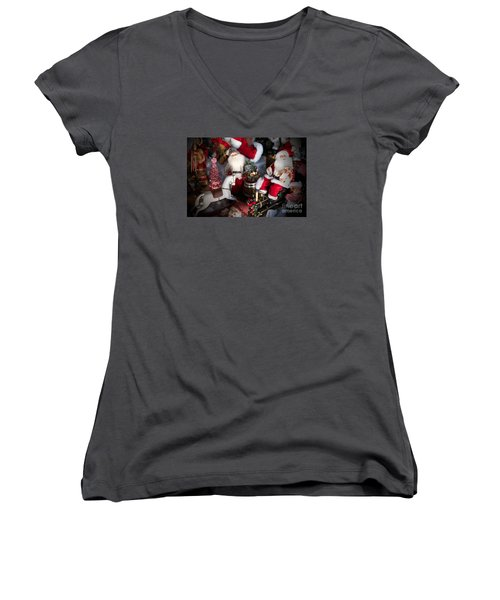 Christmas Rocking Horse II Women's V-Neck (Athletic Fit)
