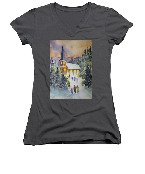 Christmas Service Women's V-Neck T-Shirt