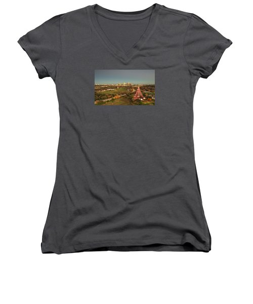 Christmas Tree In Austin Women's V-Neck T-Shirt