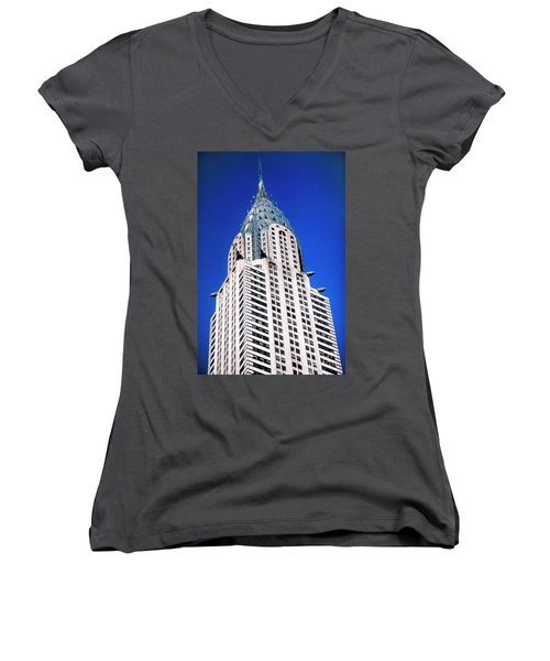 Chrysler Building Women's V-Neck T-Shirt