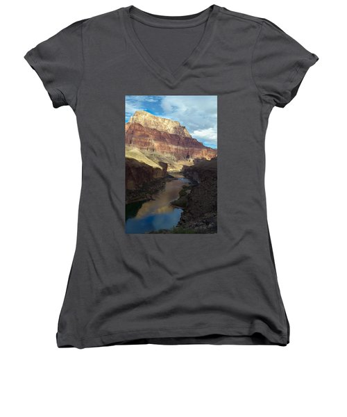 Chuar Butte Colorado River Grand Canyon Women's V-Neck (Athletic Fit)