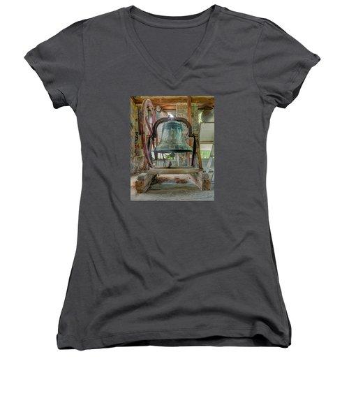 Church Bell 1783 Women's V-Neck T-Shirt (Junior Cut) by Jim Proctor