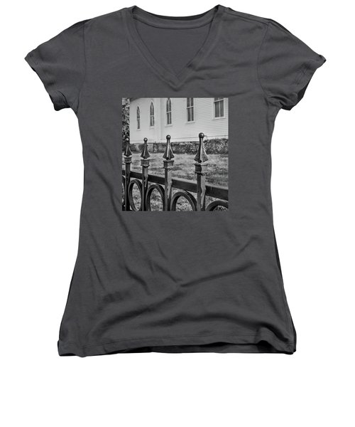 Church Fence Women's V-Neck