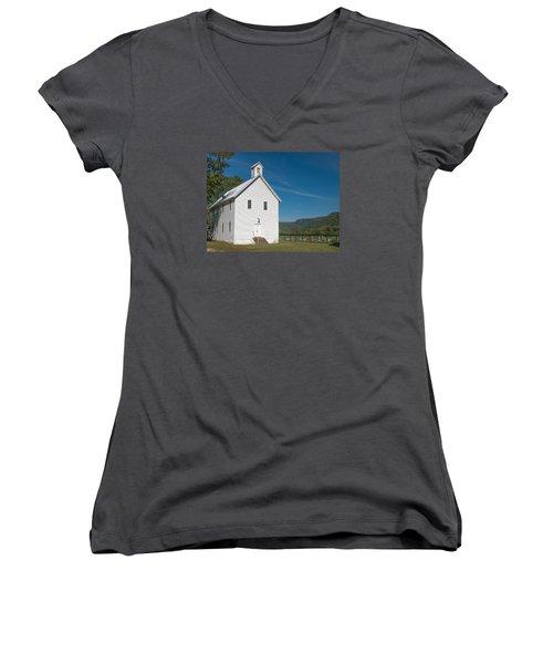 Church House In The Ozarks Women's V-Neck T-Shirt