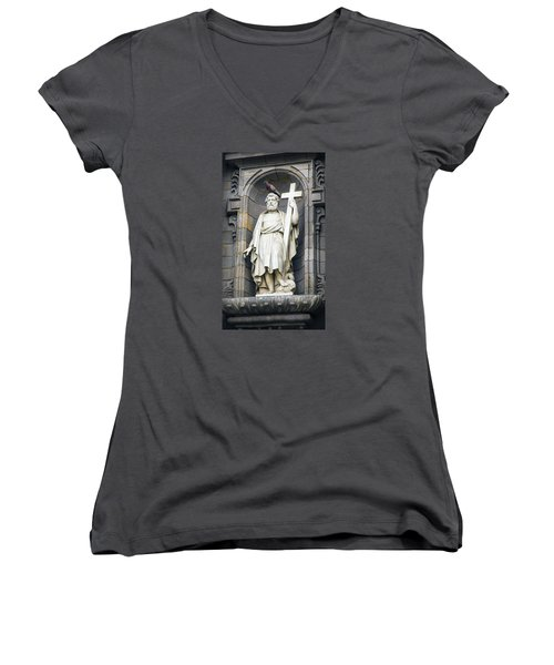 Church In Lima With Cross Women's V-Neck (Athletic Fit)