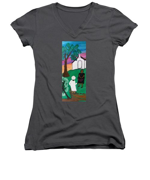 Church Ladies  Women's V-Neck (Athletic Fit)