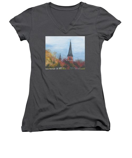 Church Steeple Women's V-Neck T-Shirt