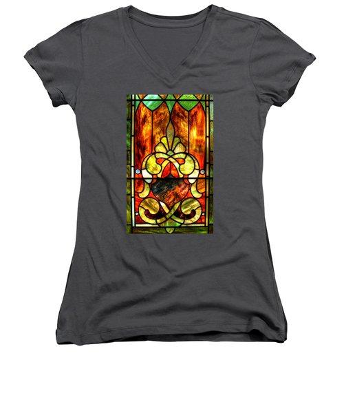 Church Window Women's V-Neck