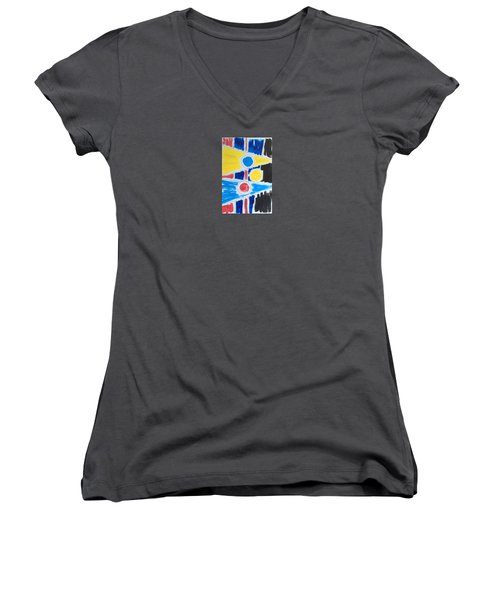 Circle Lines Color #6 Application Women's V-Neck (Athletic Fit)