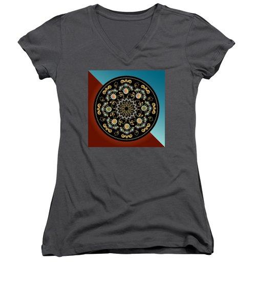 Circularium No 2640 Women's V-Neck T-Shirt