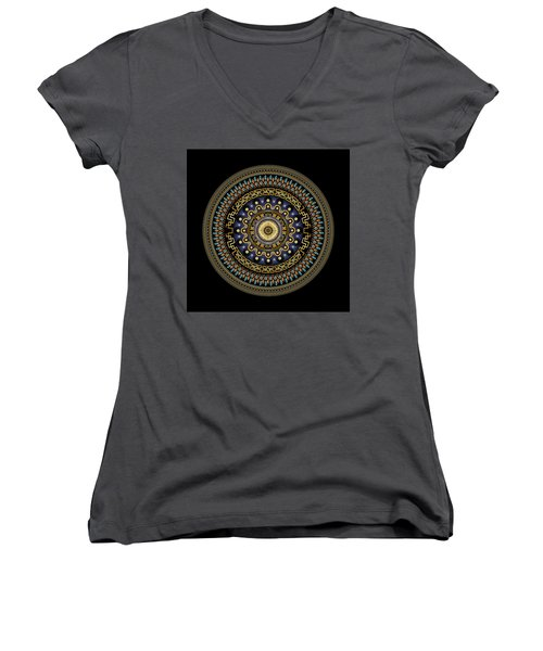 Circularium No 2643 Women's V-Neck T-Shirt (Junior Cut) by Alan Bennington