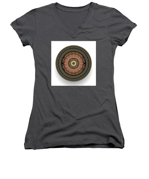Circularium No 2645 Women's V-Neck T-Shirt (Junior Cut) by Alan Bennington