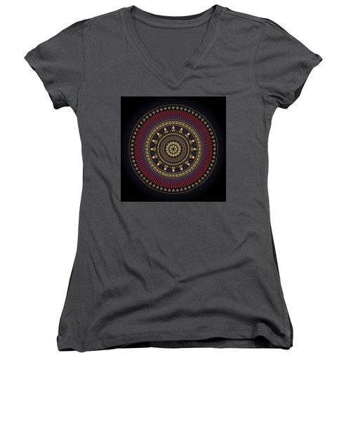 Circularium No 2649 Women's V-Neck T-Shirt (Junior Cut) by Alan Bennington