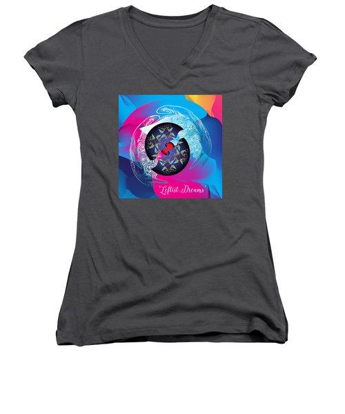 Circularium No 2719 Women's V-Neck T-Shirt (Junior Cut) by Alan Bennington