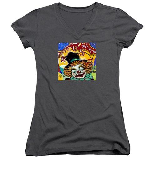 Circus Women's V-Neck T-Shirt (Junior Cut) by Carol Jacobs