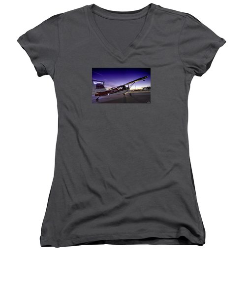 Citabria In The Twilight Of Dawn Women's V-Neck (Athletic Fit)