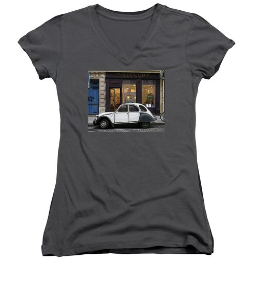 Citroen 2cv Women's V-Neck (Athletic Fit)