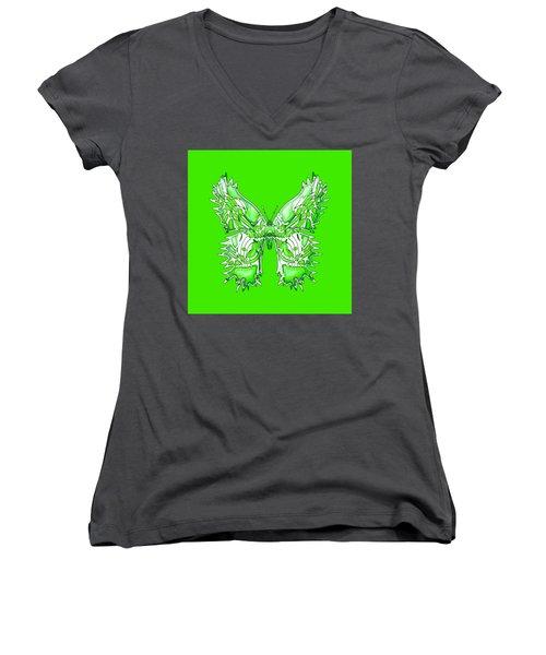 Citrusflybutterfly Women's V-Neck T-Shirt