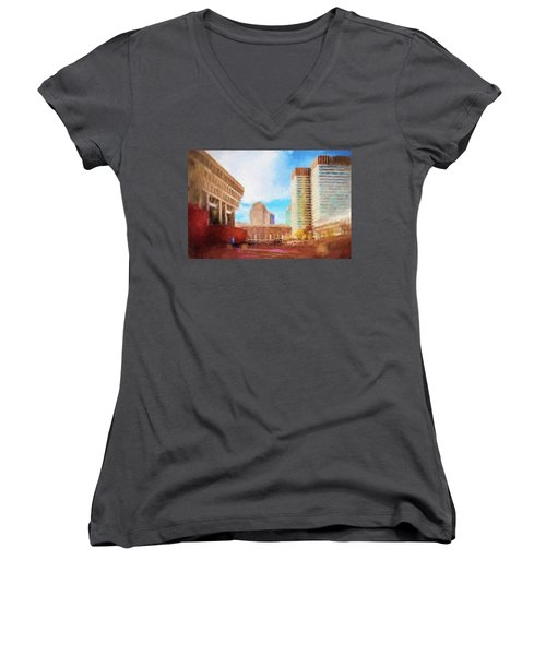 City Hall At Government Center Women's V-Neck (Athletic Fit)