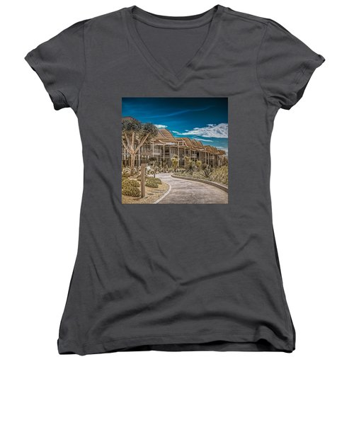 Newport Beach California City Hall Women's V-Neck (Athletic Fit)
