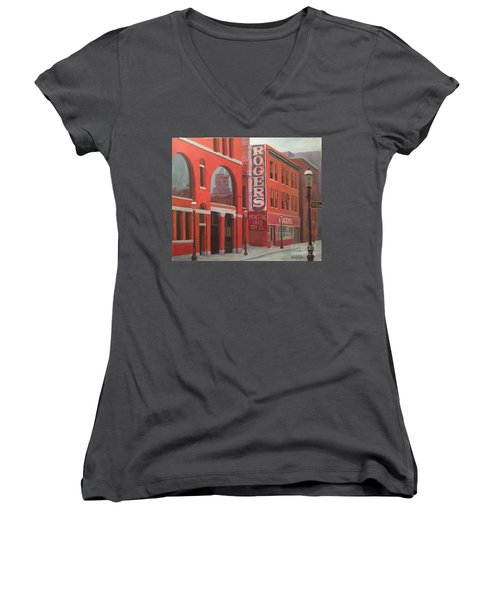 City Hall Reflection Women's V-Neck T-Shirt