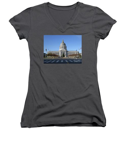 City Hall Women's V-Neck T-Shirt