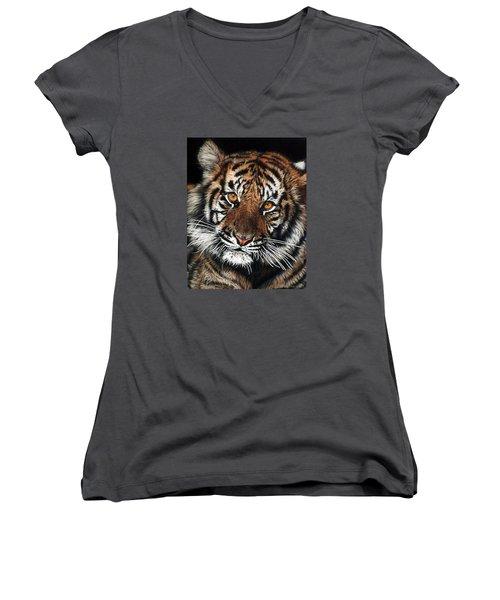CJ Women's V-Neck T-Shirt (Junior Cut) by Linda Becker