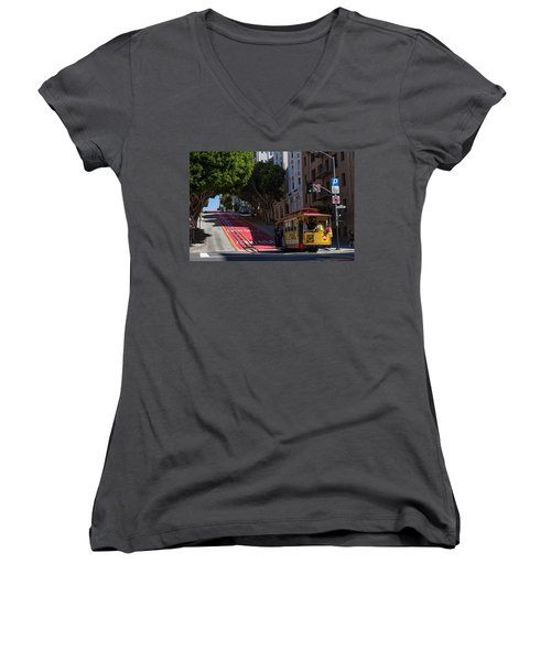Clang Clang Goes The Cable Car Women's V-Neck