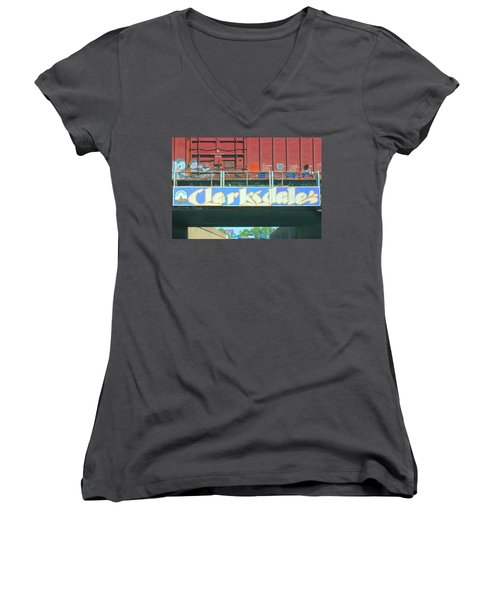 Clarksdale Overpass Women's V-Neck T-Shirt