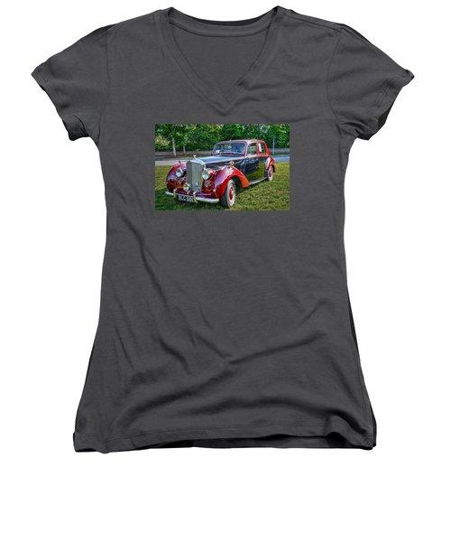 Classic Bentley In Red Women's V-Neck