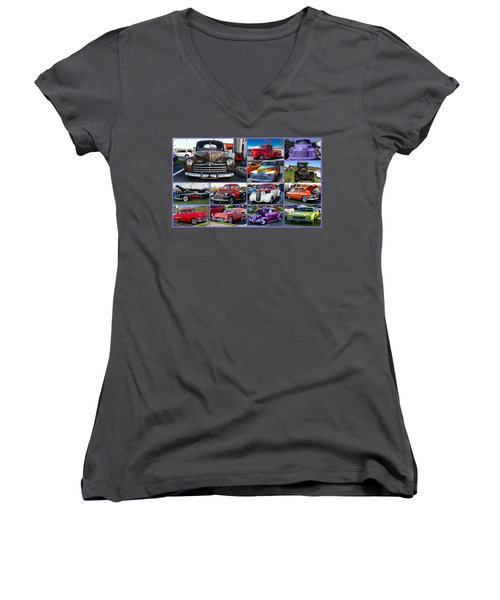 Classic Cars Women's V-Neck (Athletic Fit)