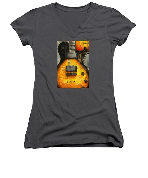Classic Rock Women's V-Neck T-Shirt (Junior Cut) by Brian Davis