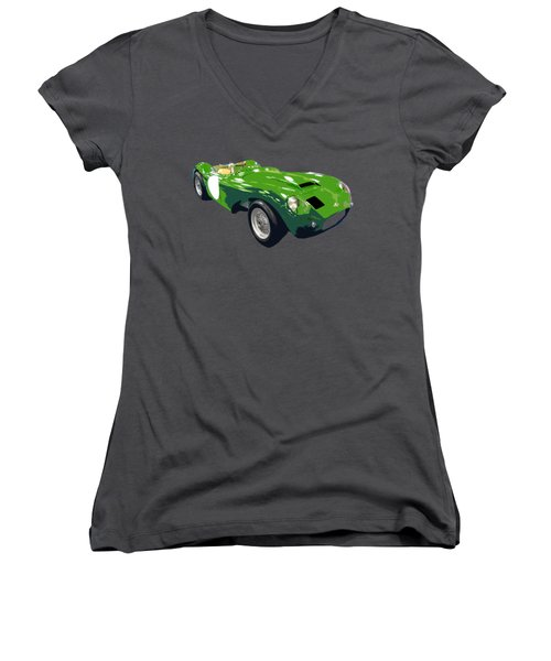 Classic Sports Green Art Women's V-Neck