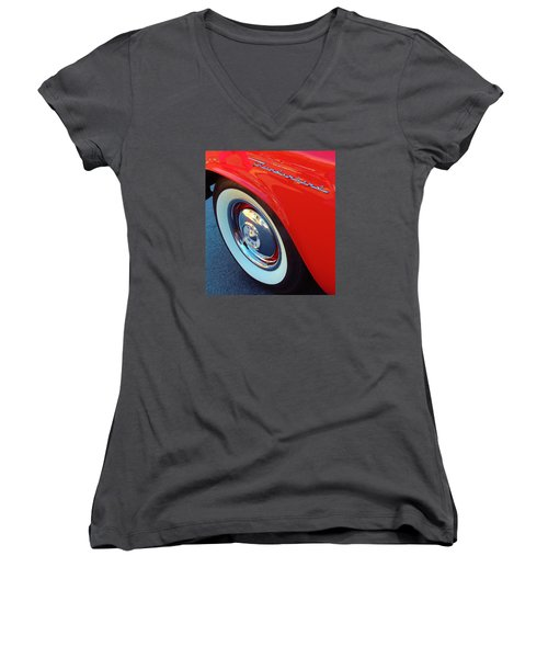 Classic T-bird Tire Women's V-Neck (Athletic Fit)