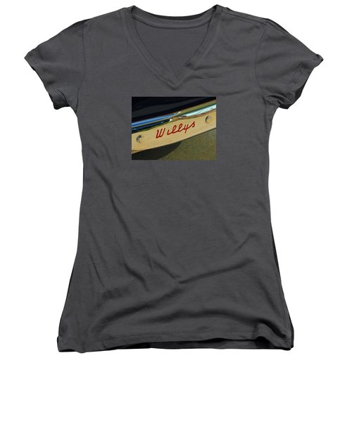 Classic Willys Jeep Women's V-Neck (Athletic Fit)
