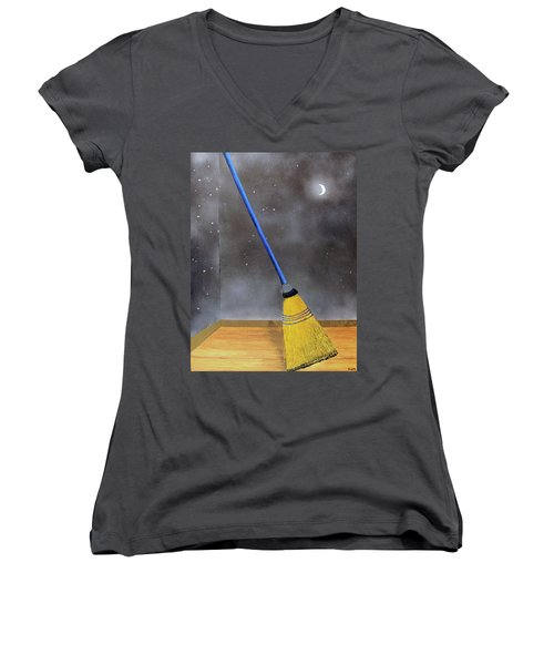 Cleaning Out The Universe Women's V-Neck