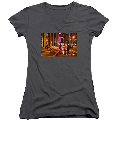 Cleaning With Neon Women's V-Neck (Athletic Fit)