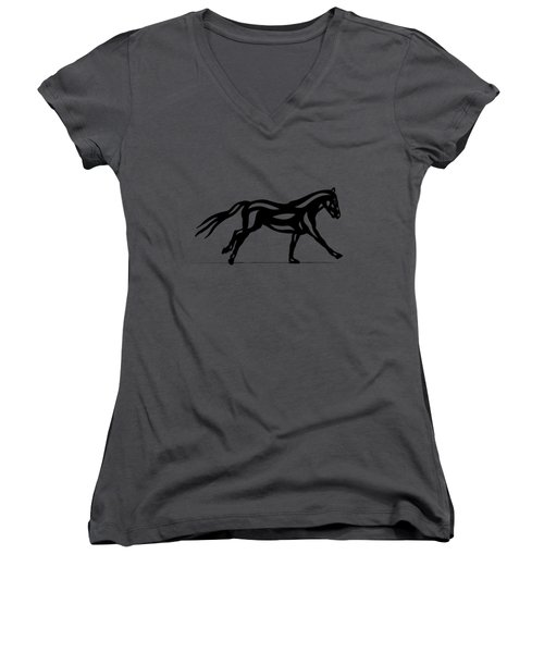 Clementine - Abstract Horse Women's V-Neck (Athletic Fit)