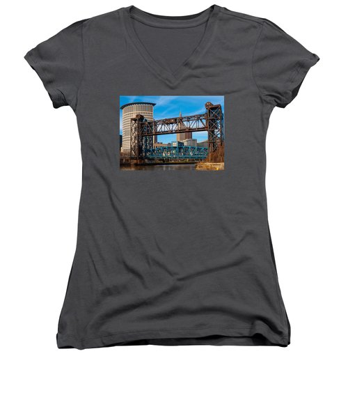 Cleveland City Of Bridges Women's V-Neck