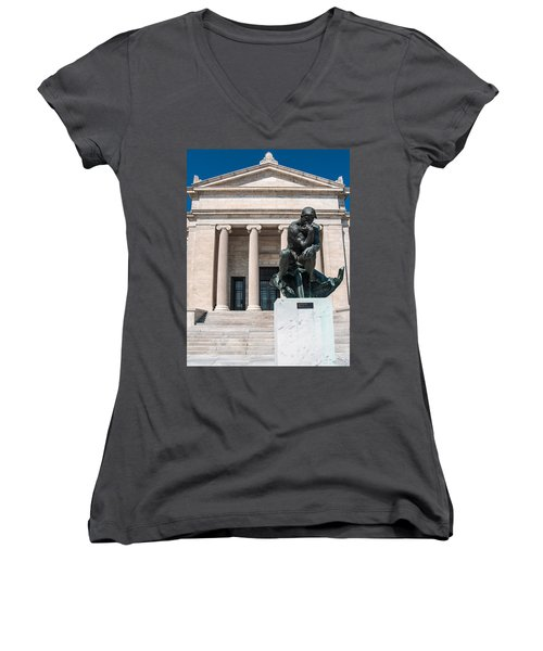 Cleveland Museum Of Art, The Thinker Women's V-Neck